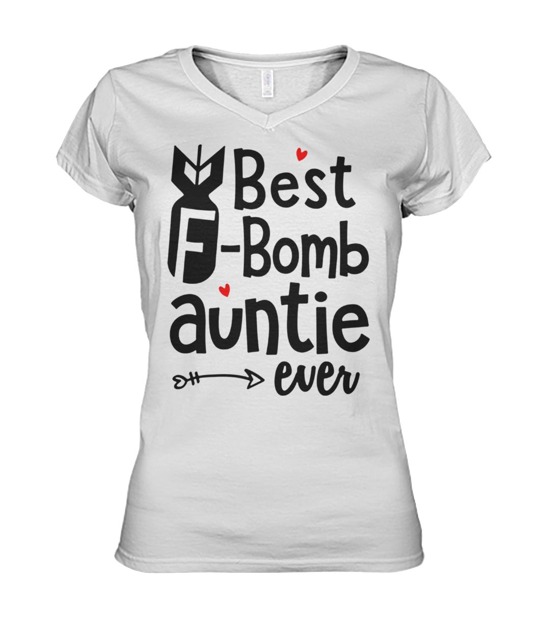 Best f-bomb auntie ever women's v-neck