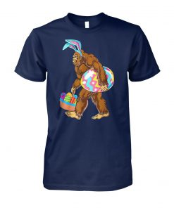 Bigfoot hunting easter eggs unisex cotton tee