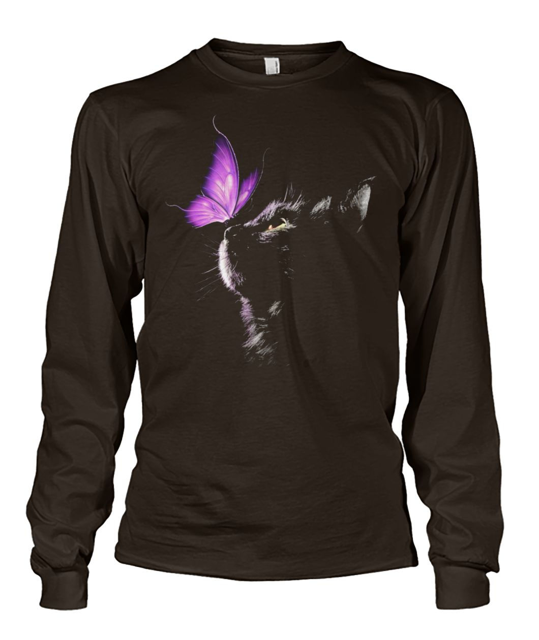 Cat and butterfly unisex long sleeve