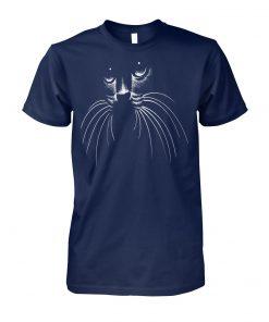 Cat lovers cat face unisex cotton tee