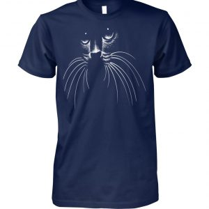 Cat lovers cat face unisex cotton tee