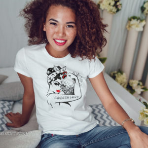Chicken and unbreakable strong woman chicken lady shirt