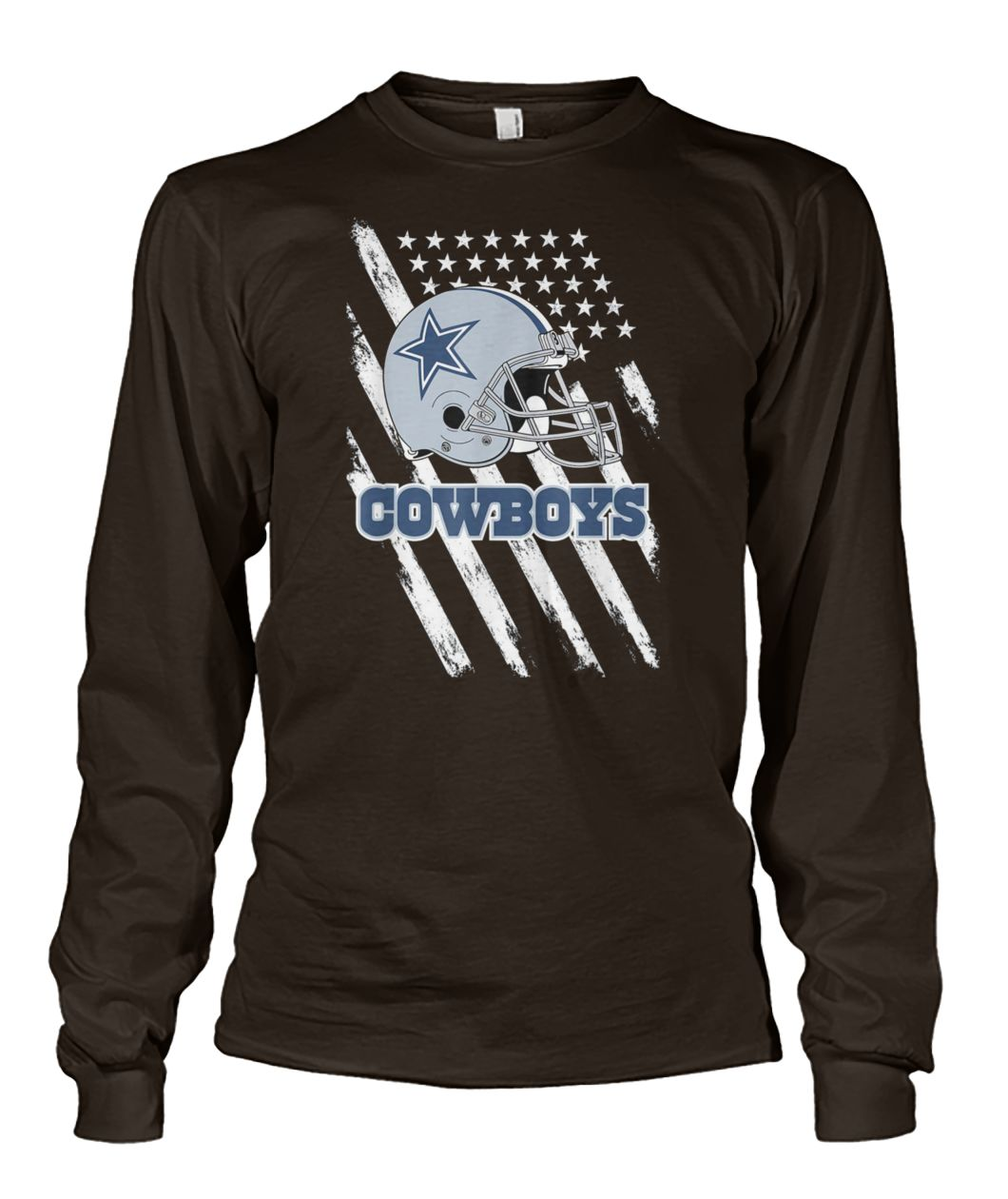 Cowboys football dallas fans USA flag unisex long sleeve