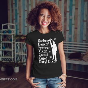 Dasher dancers prancer vixen comet cupid daryl dixon shirt