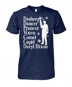 Dasher dancers prancer vixen comet cupid daryl dixon unisex cotton tee