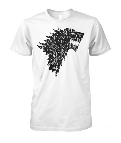 Direwolf best character names game of thrones unisex cotton tee