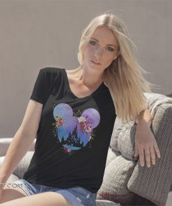 Disney in mickey mouse head floral mickey shirt