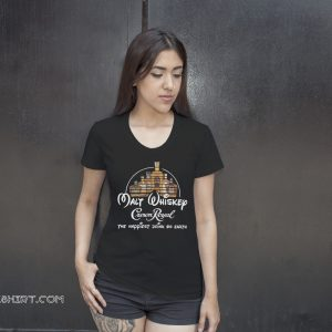 Disney malt whiskey crown royal the happiest drink on earth shirt