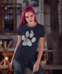 Dog paw cactus with flower shirt