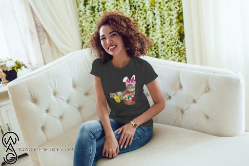 Easter cat bunny ears and eggs shirt