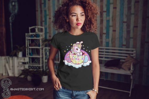 Easter unicorn bunny easter eggs shirt
