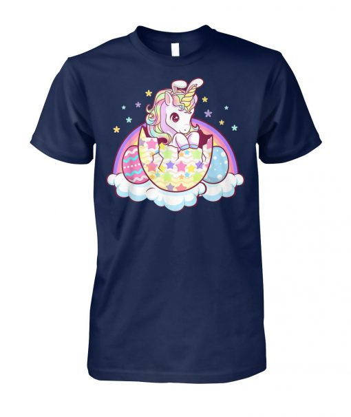 Easter unicorn bunny easter eggs unisex cotton tee