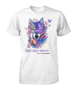 Fight like a warrior fibromyalgia awareness unisex cotton tee