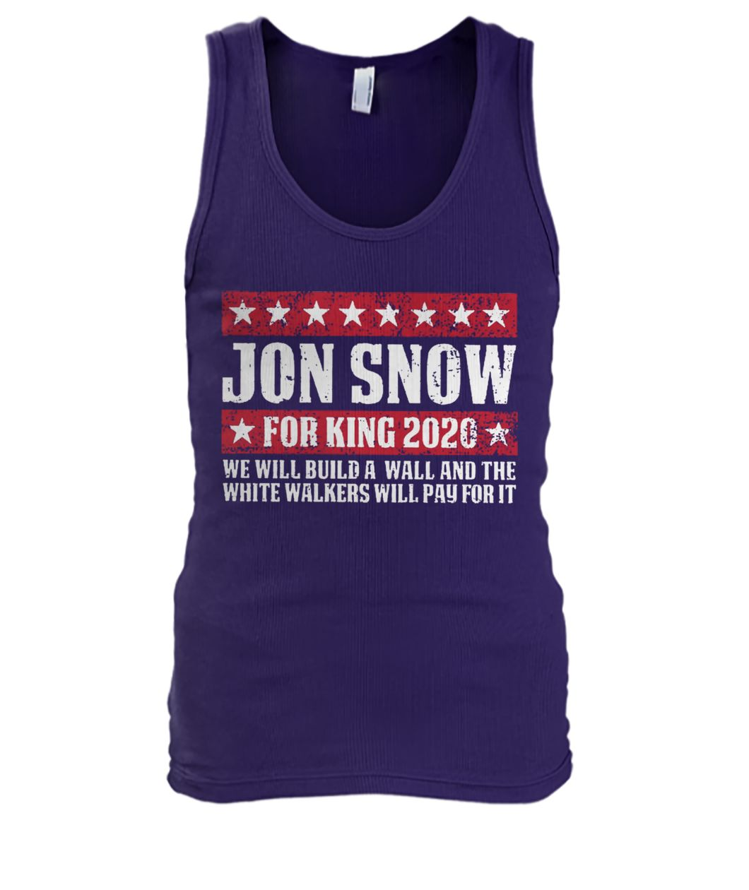 Game of thrones Jon snow for king 2020 men's tank top