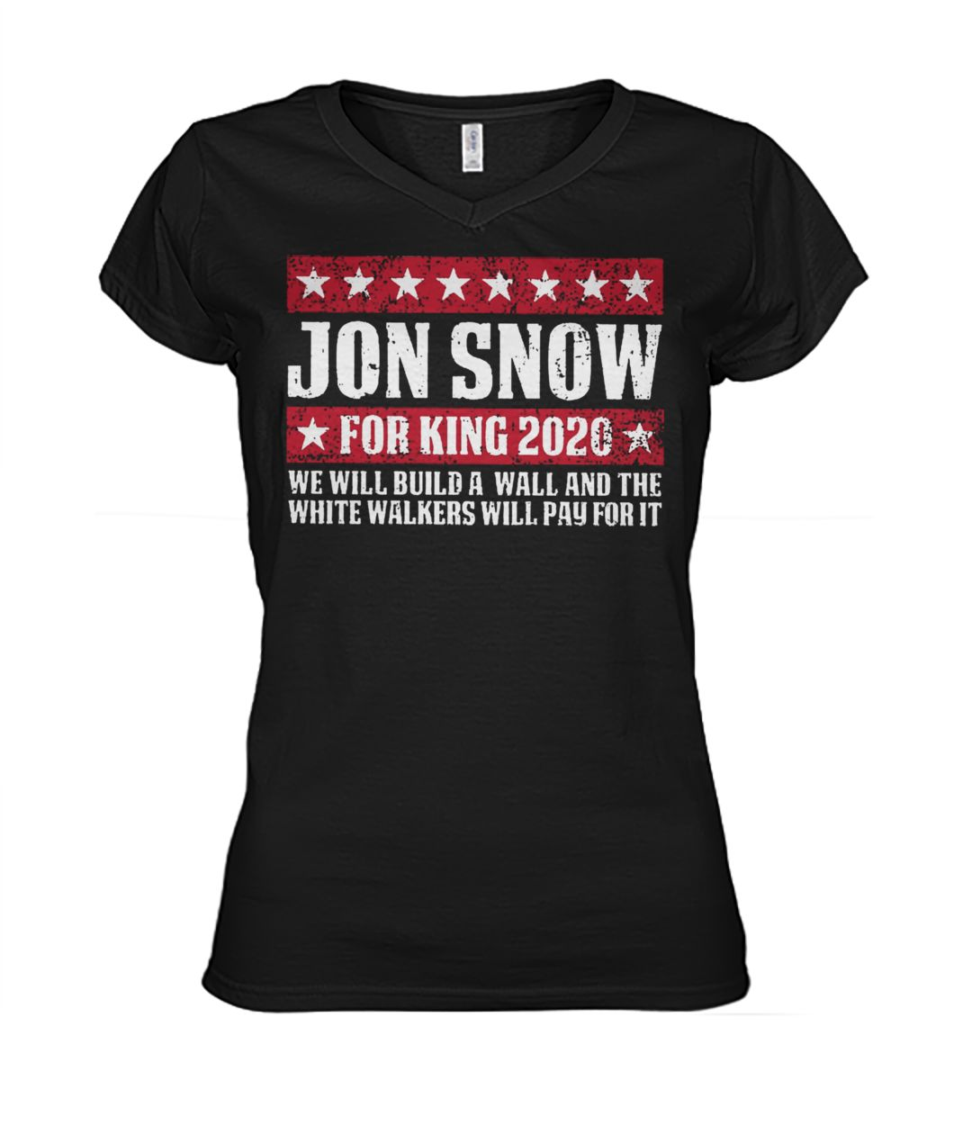 Game of thrones Jon snow for king 2020 women's v-neck