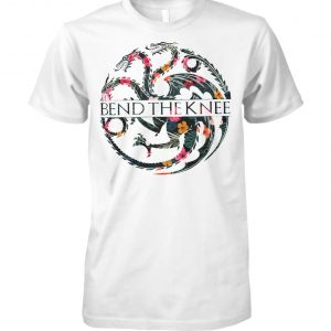 Game of thrones house targaryen bend the knee unisex cotton tee