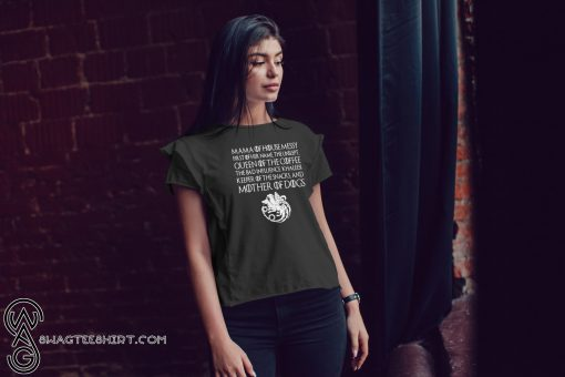 Game of thrones mama of house queen of the coffee mother of dogs shirt