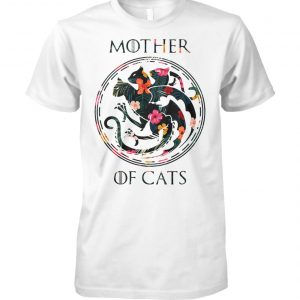 Game of thrones mother of cats flower unisex cotton tee