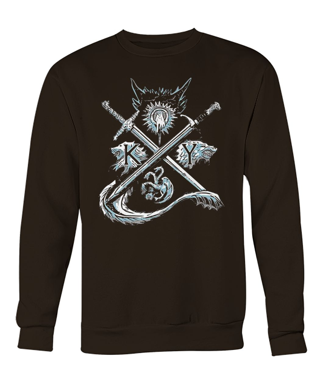 Game of thrones stark targaryen sigil house crew neck sweatshirt