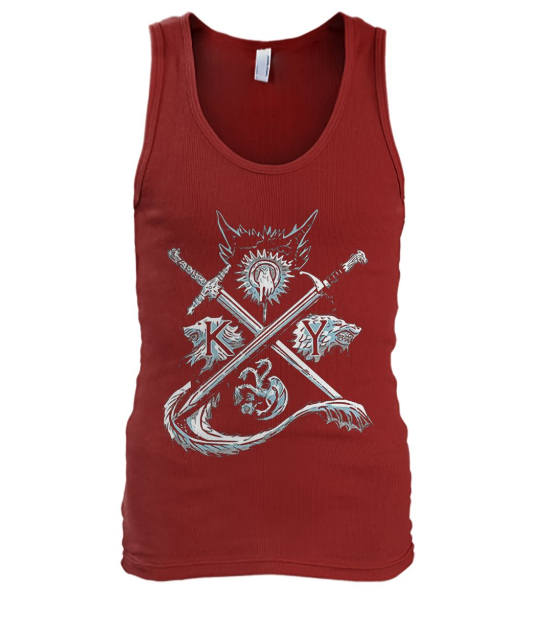 Game of thrones stark targaryen sigil house men's tank top