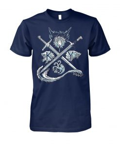 Game of thrones stark targaryen sigil house unisex cotton tee