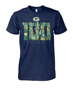 Green bay packers 100 seasons 1919 2019 unisex cotton tee