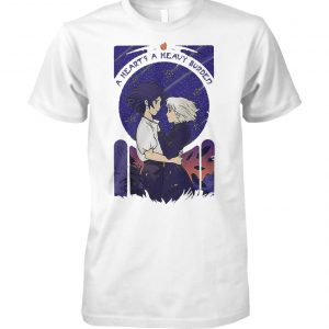 Howl and Sophie a heart's heavy burden unisex cotton tee