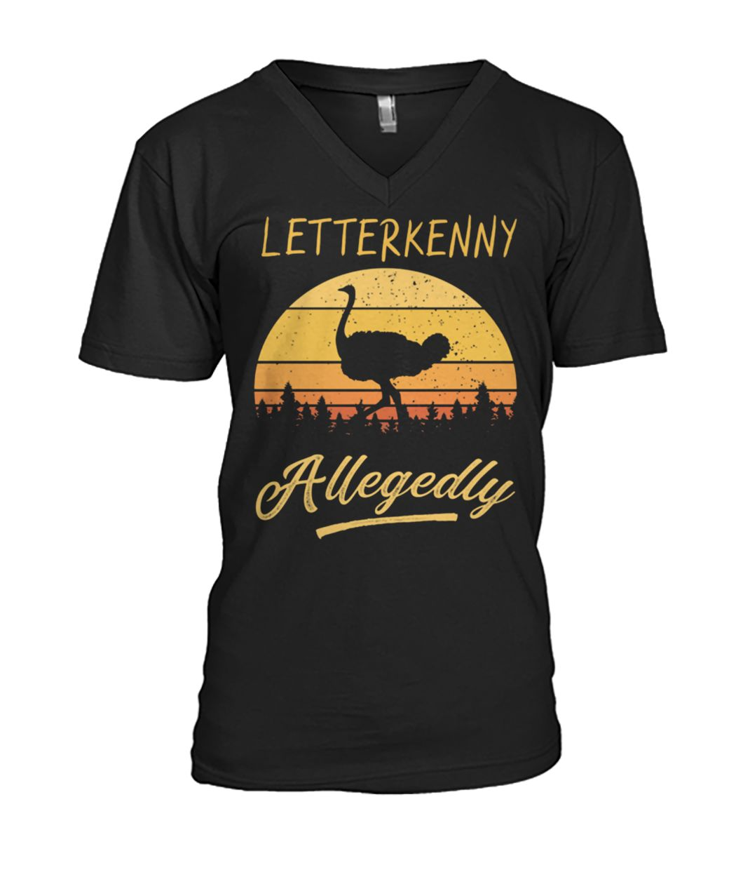 Letterkenny allegedly ostrich vintage mens v-neck