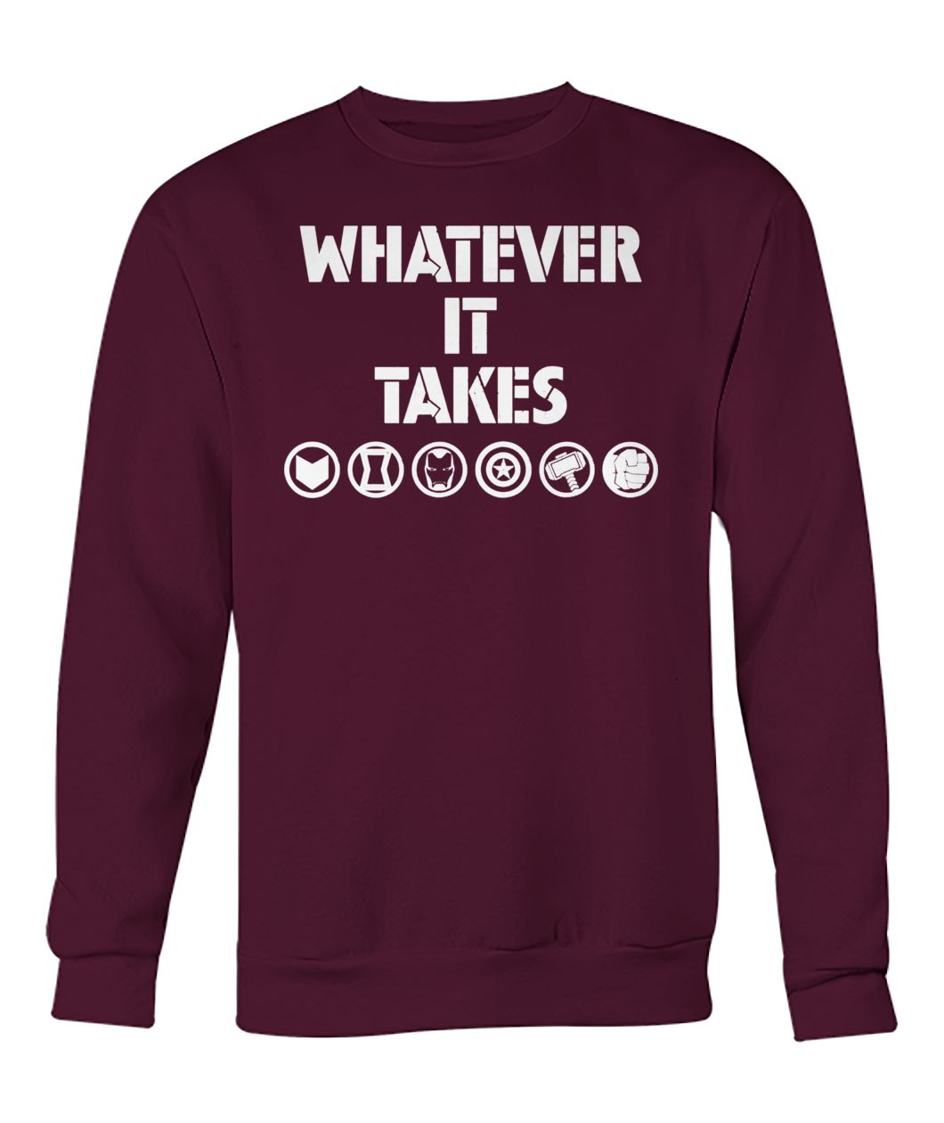 Marvel avengers endgame whatever it takes crew neck sweatshirt