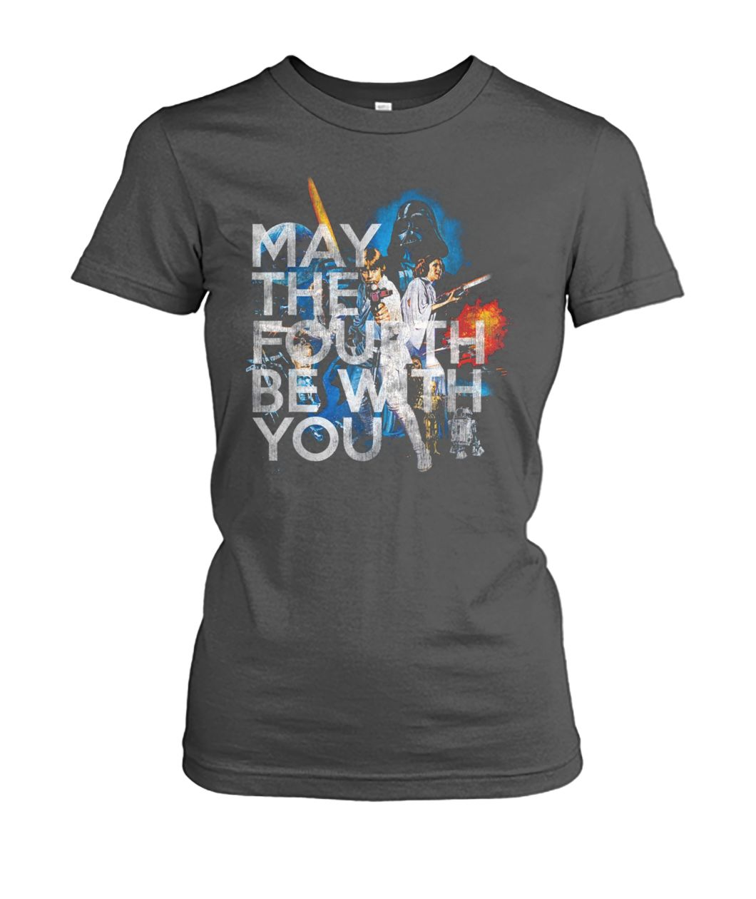 May the fourth be with you star wars day women's crew tee