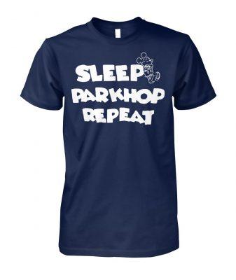 Mickey mouse sleep parkhop repeat unisex cotton tee
