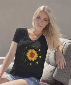 Moon phases sunflower shirt