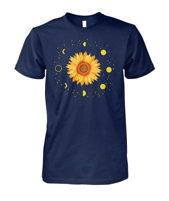Moon phases sunflower unisex cotton tee