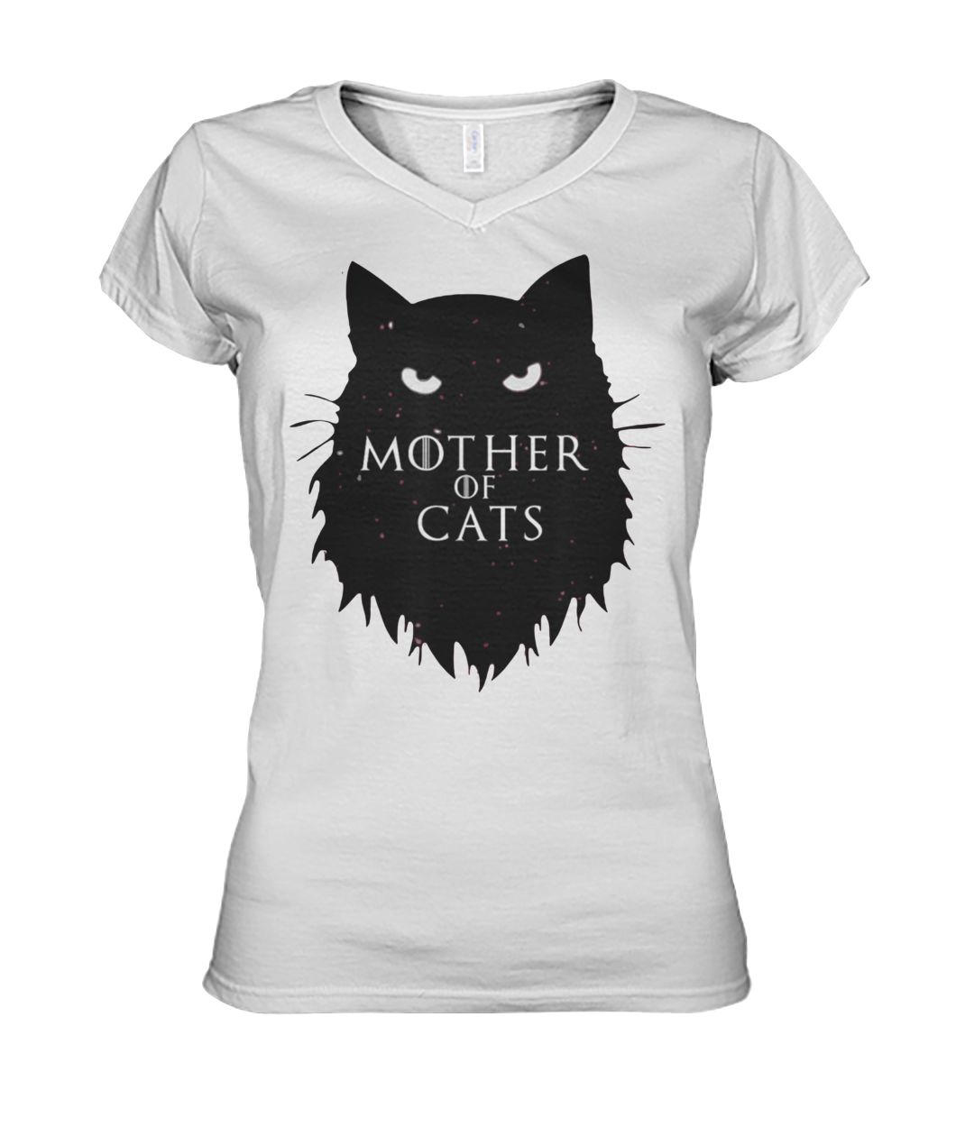 Mother of cats game of thrones women's v-neck