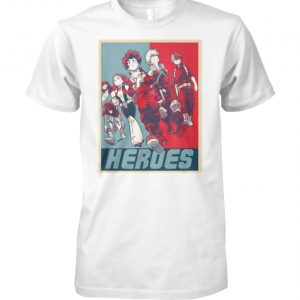 My hero academia the movie the two heroes unisex cotton tee