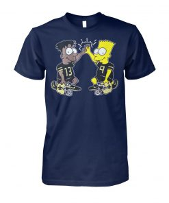 NFL new orleans saints michael thomas simpsons dynamic duo unisex cotton tee