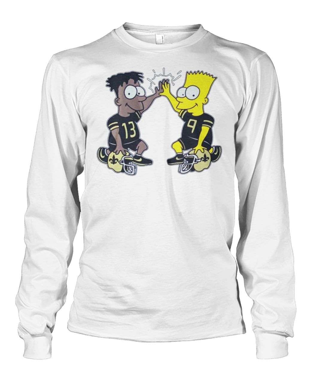 NFL new orleans saints michael thomas simpsons dynamic duo unisex long sleeve