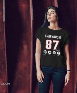 NFL rob gronkowski 87 521 receptions 7861 rec yds 79 tds 3 super bowls shirt