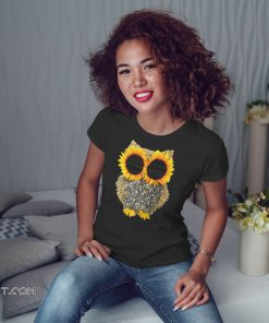 Owl sunflower shirt