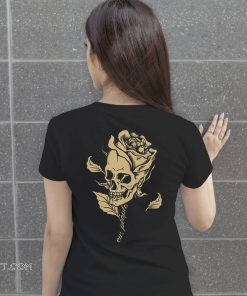 Skull head flower shirt