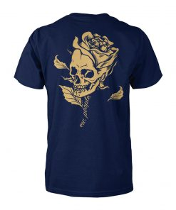 Skull head flower unisex cotton tee