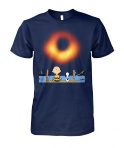 Snoopy and charlie brown black hole photo 2019 unisex cotton tee
