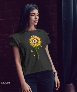 Soccer ball sunflower you are my sunshine shirt