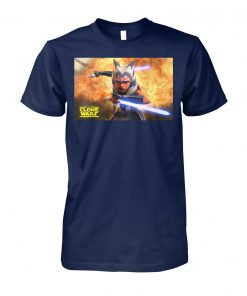 Star wars the clone wars ahsoka tano teaser poster unisex cotton tee