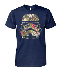 Star wars tropical stormtrooper floral print graphic unisex cotton tee