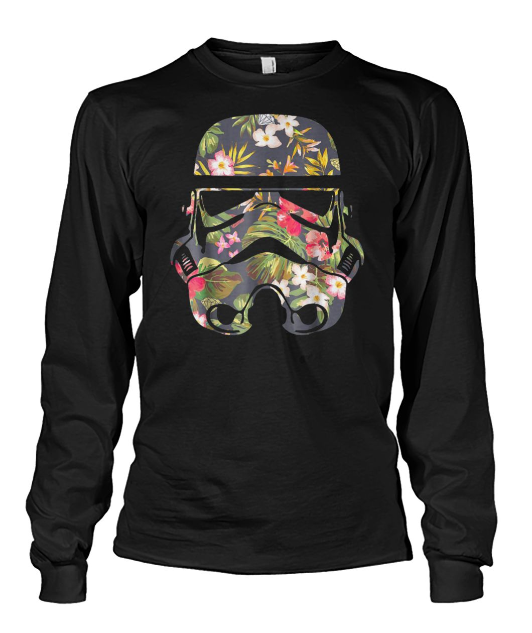 Star wars tropical stormtrooper floral print graphic unisex long sleeve