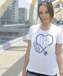 Stethoscope nurse kansas city royals shirt