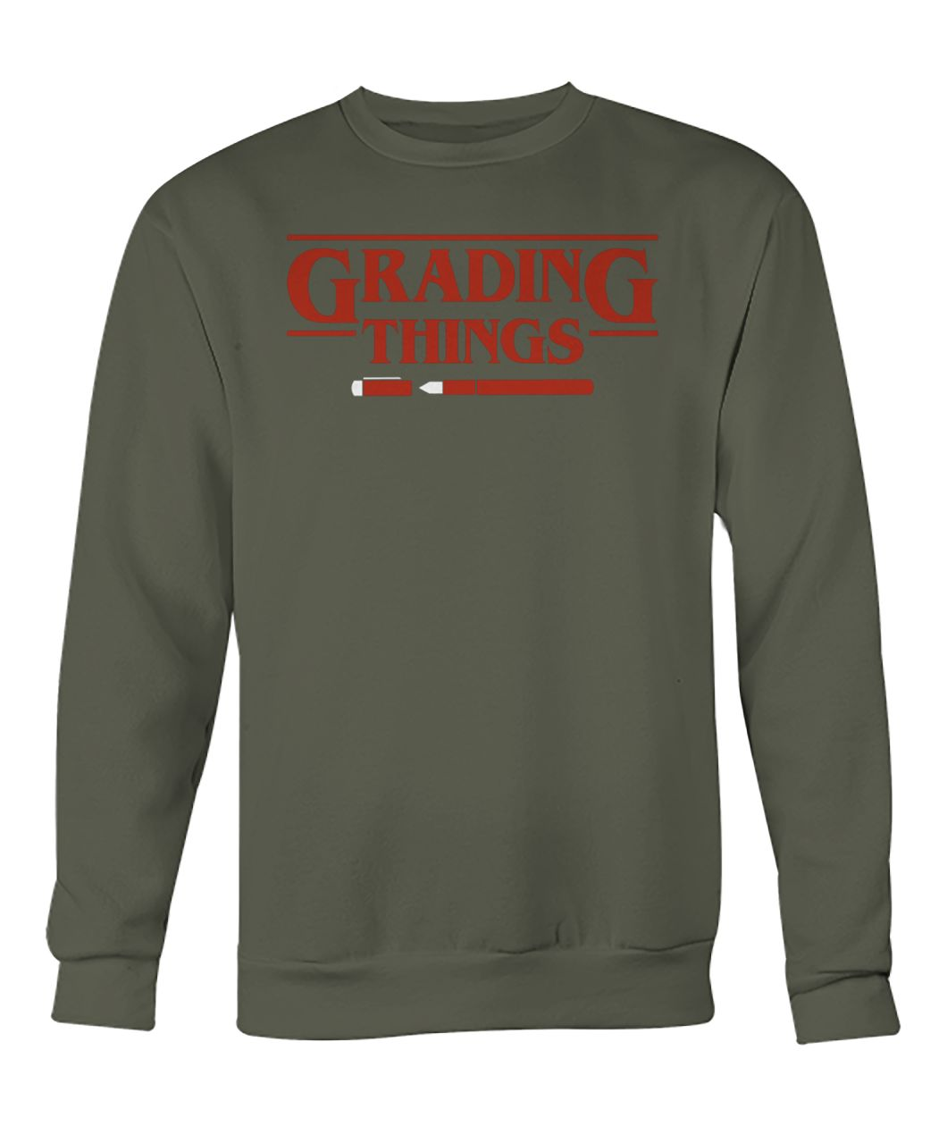 Stranger things grading things crew neck sweatshirt