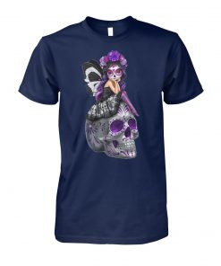 Sugar skull fairy figurines esmerelda unisex cotton tee
