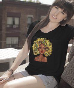 Sunflower natural hair for black girl shirt